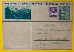 9602 - Entier Postal Illustration Kiental  1934 - Enteros Postales