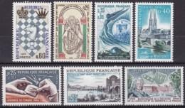 Frankreich, 1966,  1540, 42/47, MNH **, Kleine Sammlung, Petite Collection - Nuovi