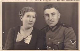AK Foto Deutscher Soldat Mit Frau - 2. WK (45457) - Weltkrieg 1939-45