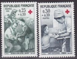 Frankreich, 1966,  1568/69, MNH **, Rote Kreuz - Nuovi