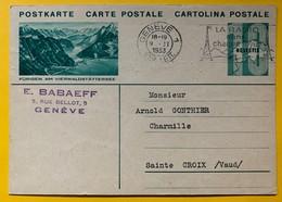 9603 - Entier Postal Illustration  Fürigen Am Vierwaldstättersee Genève 09.11.1933 - Interi Postali