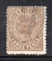 XP4478 - QUEENSLAND 1883,  Yvert N. 53 Usato  (2380A) . - 1860-1909 Queensland