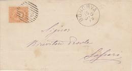 Bonorva. 1879. Annullo Numerale Grande Cerchio A Sbarre 470, Su Lettera Affrancata - 1878-00 Umberto I