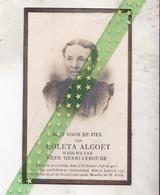 Coleta Algoet-Lerouge, Oyghem 1845, Desselghem 1920 - Décès