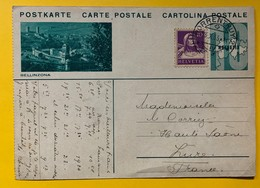 9605 - Entier Postal Illustration  Bellinzona Porrentruy 23.10.1933 - Enteros Postales