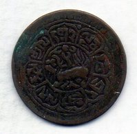 TIBET, 1 Sho, Copper, Year 1922-28, KM #21a - Monete