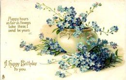 GREETINGS - 2 EMBOSSED BIRTHDAY CARDS BY TUCKS - Cumpleaños