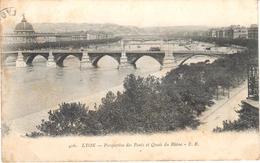 POSTAL    LYON  -FRANCIA  - PERSPECTIVE DES PONTS ET QUAIS DU RHÖNE - Lyon