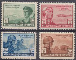 CROAZIA - 1943 - Serie Completa Di 4 Valori Nuovi MNH: Yvert 100/103. - Kroatien