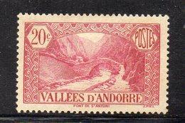XP4506 - ANDORRA 1932,  Unificato N. 30 *linguella  (2380A) . - Neufs