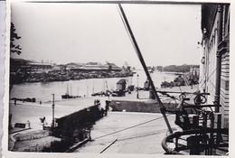 PHOTO ORIGINALE 39 / 45 WW2 WEHRMACHT FRANCE BOULOGNE VUE SUR LES QUAIS - Guerre, Militaire