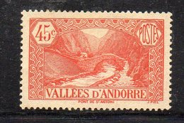 XP4537 - ANDORRA 1932,  Unificato N. 34 *  Linguella  (2380A) . - Neufs