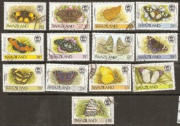 Swaziland   1987  Various Values    Butterflies Fine Used - Vlinders