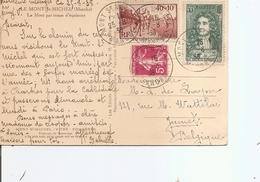 France ( CP De 1938 Du Mont-Saint Michel Vers La Belgique à Voir) - Francia
