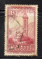 XP4556 - ANDORRA 1932,  Unificato N. 35 Usato  (2380A) . - Andorre Français