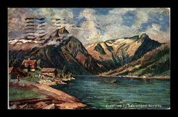 1908 Old Post Card Travelled Norge Norway OILETTE Tuck's Postkart Essefjord Balestrand Sognefjord Balholm - Noorwegen