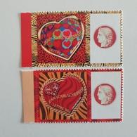 SCHERRER  3863/4A  ADHESIF LOGO PRIVE COTE 31 EUROS SUR YVERT 2020 TB - Gepersonaliseerde Postzegels