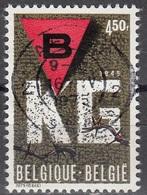 Belgique 1975 COB 1768 O Cote (2016) 0.25 Euro 30 Ans Libération Des Camps Cachet Rond - Belgique