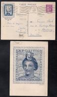 TYPE PAIX - PEXIP / 1937 ENTIER POSTAL TIMBRE SUR COMMANDE VOYAGE (ref LE3815) - Cartes Postales Types Et TSC (avant 1995)