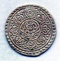 TIBET, 1 Tangka, Silver, Year 1880-94, KM #13.1 - Monete