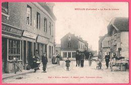 Meulles - Rue De Lisieux - Calèche - Epicerie HERFORT - Enfants Fille Au Cerceau - Animée - Edit. HERFORT - Photo BUNEL - France
