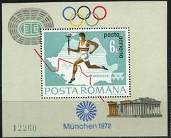 Romania, Olympic Games 1972, Torch, Block - Ete 1972: Munich