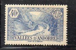 XP4572 - ANDORRA 1932,  Unificato N. 33 ***  MNH  (2380A) . - Andorre Français