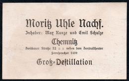 D0191 - Chemnitz Visitenkarte Moritz Uhle Destillation - Visitenkarten