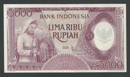 INDONESIA 5000 5,000 Rupiah 1958 UNC - Indonésie