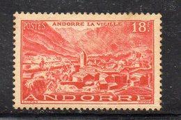 XP4637 - ANDORRA 1948,  Unificato N. 134  *  Linguella. Gomma Stanca  (2380A) . - Neufs