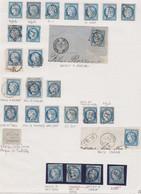 N°60 Collection De 27 Timbres, Oblitérations Diverses Et Rares, TB, Voir Le Détail Dans Le Texte - 1871-1875 Cérès
