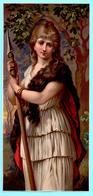 Chromo Grand Format Non Publicitaire. Femme Guerrière à L'époque Barbare. Barbarian-era Warrior Woman - Cromos