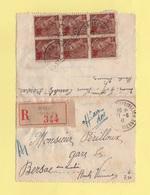 Type Mercure - Recommande - Bersac Sur Rivalier - 11-6-1941 - Haute Vienne - 1921-1960: Periodo Moderno