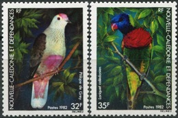 NEW CALEDONIA 1982 Birds Red-bellied Fruit-dove Rainbow Lorikeet Animals Fauna MNH - Other