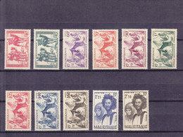 MAURITANIE 105/115 SAUF 112A  LUXE NEUF SANS CHARNIERE - Mauritania (1906-1944)