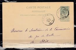 Postkaart Van Peissant Naar Stree - Entiers Postaux