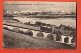 KAK-26 Funiculaire Neuchâtel - Chaumont, Vue Sur La Coudre. Circulé Sous Enveloppe.Timbre Manque.Phototypie 5029 - NE Neuchâtel