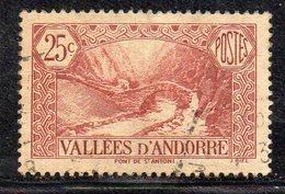 XP4622 - ANDORRA 1937,  Unificato N. 61  Usato  (2380A) . - Andorre Français