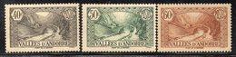 XP4618 - ANDORRA 1935,  Unificato N. 62+65+67  *   Linguella  (2380A) . - Andorre Français