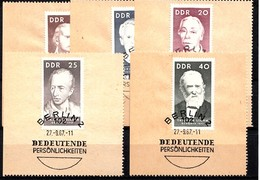 DDR 1967  Mi.nr. 1293-1297 Berühmte Persönlichkeiten  OBLITÉRÉS-USED-GEBRUIKT - [6] République Démocratique
