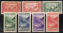 XP5004 - ANDORRA 1935, Sette Valori Diversi  *   Linguella  (2380A) . - Andorre Français