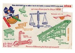 Buvard Les Bons Desserts Alsa - Alsastick Jeu Magnifique - Timbre Découpé - Cake & Candy