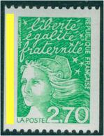VARIETE SUR MARIANNE DE LUQUET  N°3100 **   BANDE DE PHOSPHORE A  GAUCHE - 1997-04 Marianna Del 14 Luglio