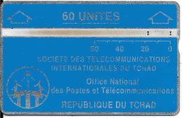 CARTE MAGNETIQUE-TCHAD-60U-BLEU-V° N° En Bas A Droite Inversé 903C13003-BE - Tsjaad