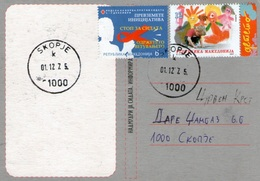 Macedonia Red Cross 2 Stamp AIDS And Help Kids FDC - Macedonia