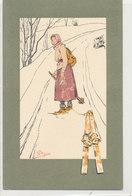 Illustrateur Pellegrini N° 452 - Femme Traînant Des Skis - - Otros Ilustradores