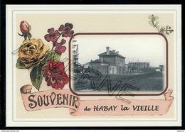 HABAY  La  VIEILLE ...  2 Cartes Souvenirs Gare ... Train  Creations Modernes Série Limitée - Habay