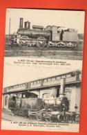 KAK-37 Carte-Photo De Deux Locomotives à Vapeur De Hongrie, Hungaria, Budapest 6523, Non Circulé - Hongrie