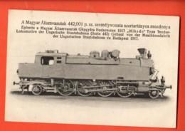 KAK-38 Carte-Photo A Magyar Allamvasutak , Locomotive Ungaris Hes Staatsbahnen Zu Budapest 1917  Not Used - Hongrie