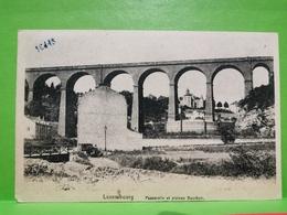 Luxembourg, Passerelle Et Plateau Bourbon. Cache Foire Commerciale 1923 - Postkaarten
